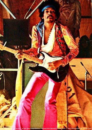 Jimi Hendrix nel suo ultimo concerto, il 4 settembre 1970.