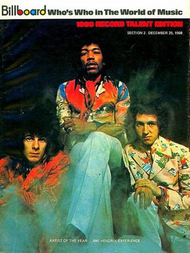 Jimi Hendrix Experience, artista dell'anno 1968 su Billboard del dicembre dello stesso anno.
