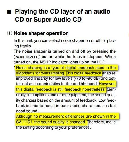 Il manuale del Marantz SA-11, scaricabile all'indirizzo http://www.disc-player.com/manuals/marantz/Marantz_SA-11S1.pdf
